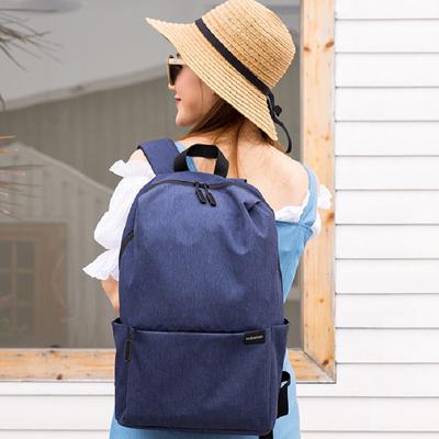 简约休闲空气双肩包男女潮流时尚15.6笔记本电脑包旅行大容量背包