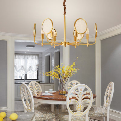 Postmodern personality dining room simple beauty creative living room study art bedroom all copper chandeliers glass chandelier