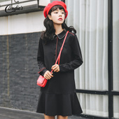 Collared Long Sleeved Dress