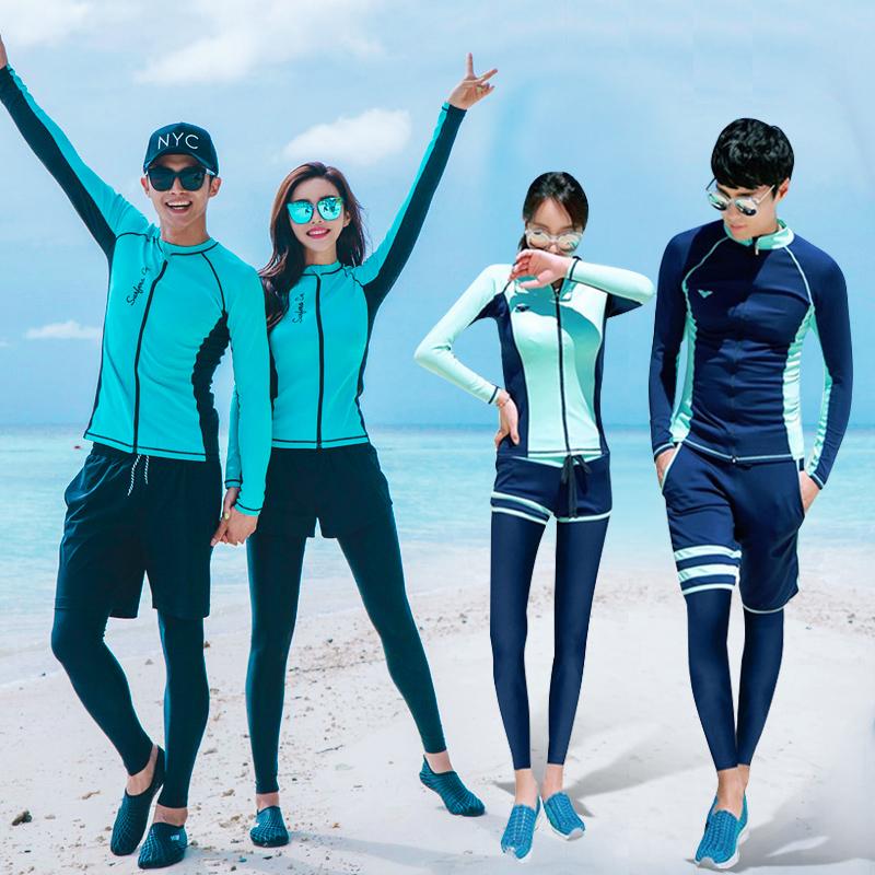 Корея дайвинг одежда молния трещина с длинными рукавами и длинные брюки плавать одежда солнцезащитный крем быстросохнущие пары мужской женщина медуза одежда поплавок скрытая одежда