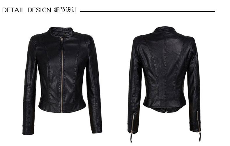 2018 mùa xuân và mùa thu mới của Hàn Quốc phiên bản của hoang dã đầu máy da nhỏ phụ nữ ngắn pu jacket Slim mỏng da bình thường áo khoác