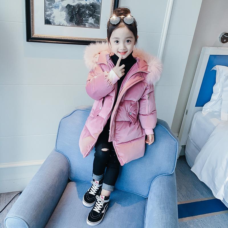 新款韩版女童加厚羽绒棉服