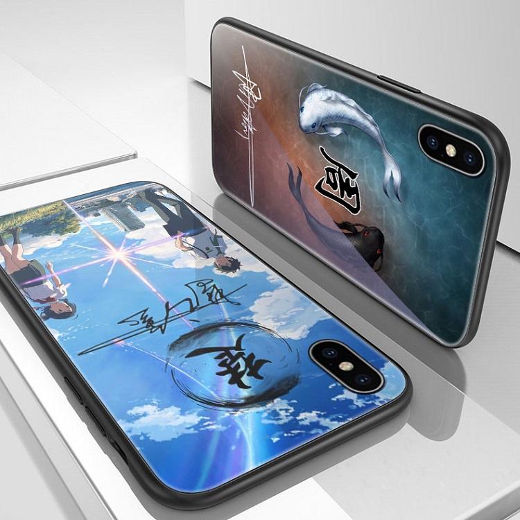 苹果x手机壳个性签名iphone11姓名定制11pro男8x姓氏7plus夜光玻璃8p百家姓XR中国风xs防摔diy文字创意xsmax