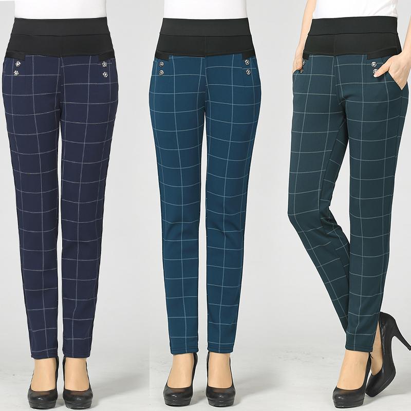 。。秋冬季中年妇女装妈妈长裤35休闲裤40到45多5o岁穿加绒加厚保