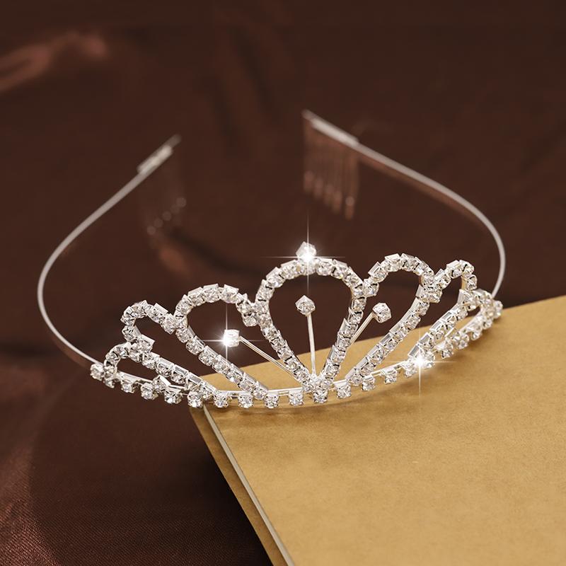 韩国儿童皇冠发箍公主可爱水钻女童发饰宝宝发梳小女孩发卡头饰品