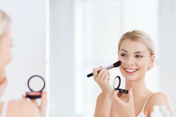 斐色耐台式LED灯化妆镜梳妆台补光镜子带灯公主桌面镜便携双面镜