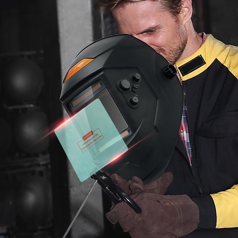 自动变光电焊面罩自动变光头戴式焊工焊帽保护片