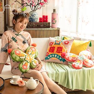 【爱诗乐】中国风3d国潮抱枕