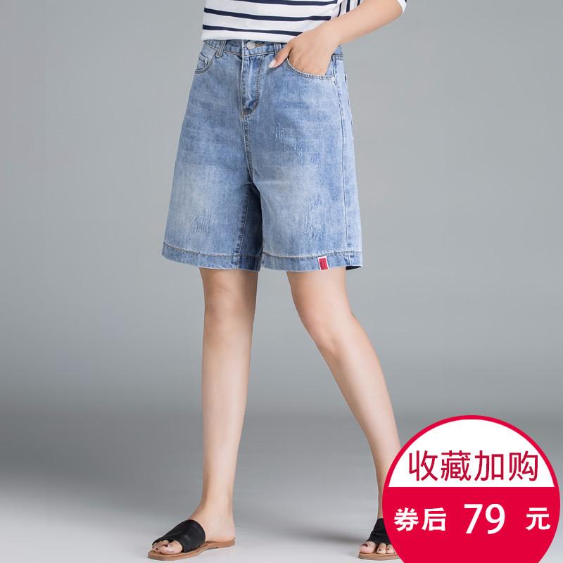 夏装韩版百搭宽松高腰阔腿短裤