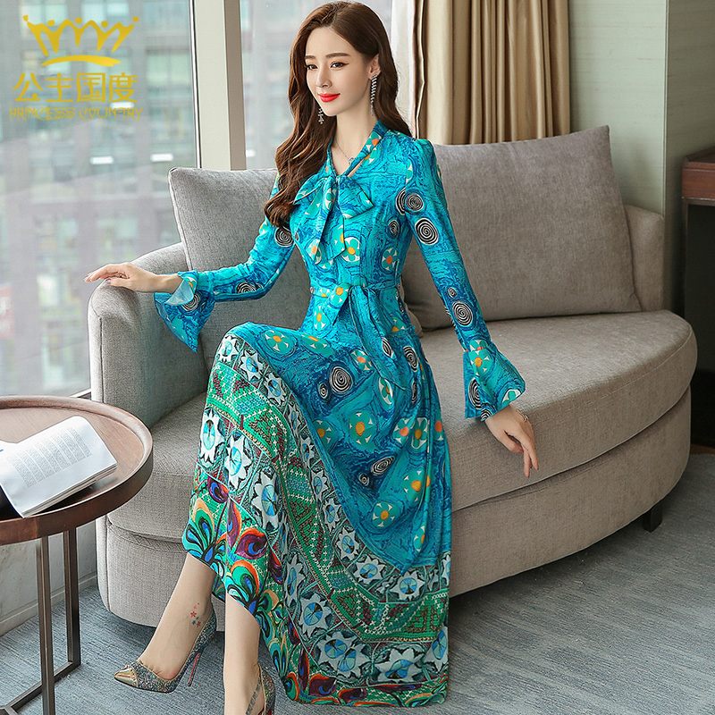 a065c177eeb USD 958.86  Princess country summer and autumn women s new Pure Silk ...