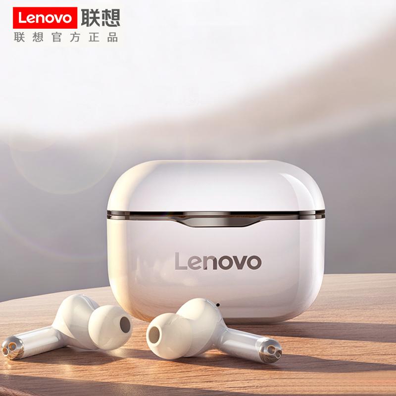 联想LP1无线蓝牙耳机双耳运动入耳式适用苹果华为vivo安卓oppo手机iphone通用跑步单耳小型超长待机续航游戏