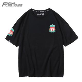 Ливерпуль клуб футбол движение обучение короткий рукав t футболки рубашка куртка с коротким рукавом свободный мужской куртка хлопок лето, цена 839 руб