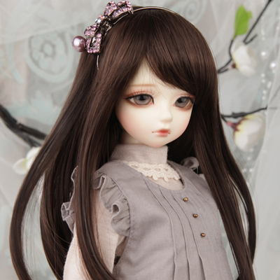 taobao agent 【Free shipping】bjd/sd .Doll Wig 4 points 6 points 3 points oblique bangs basic long hair