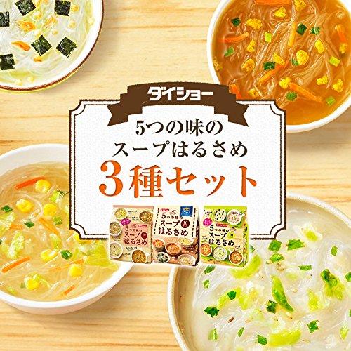 日本进口速食汤大正daisho低卡代餐饱腹速食粉丝汤5口味10袋装