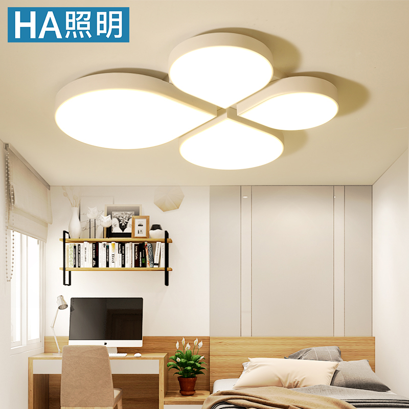 Clover Children Bedroom Lamp Warm Color Simple Modern Boy Princess Creative Personality Led Ceiling