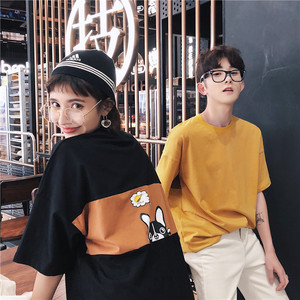 夏季新款男女情侣纯棉短袖T恤