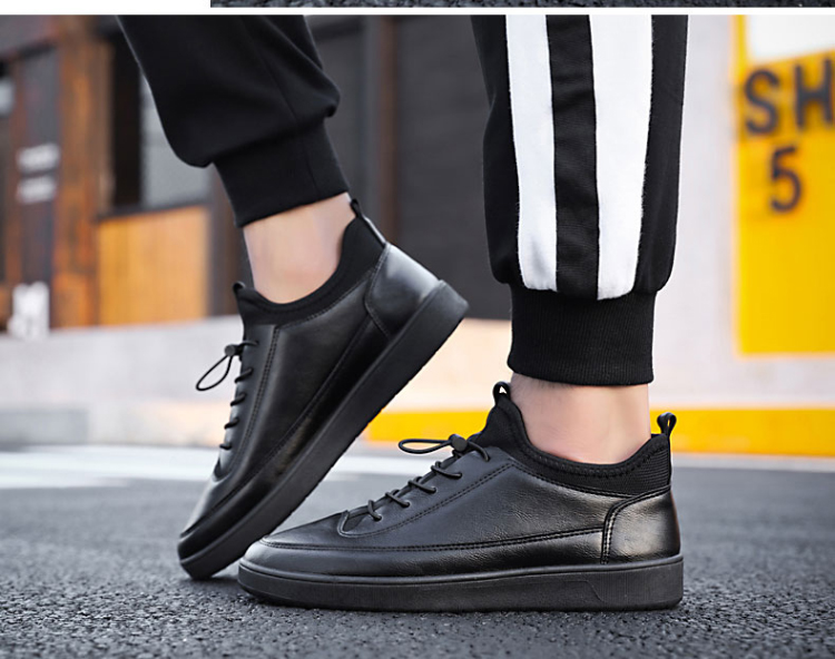 7e9807d72076 Men s Tide Shoes Work Shoes Casual Black Non-Slip Shoes