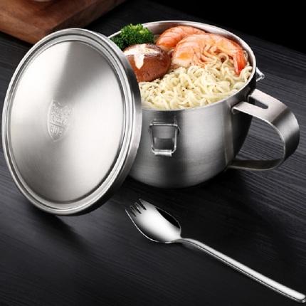 德国双层不锈钢泡面碗带盖家用超长保温饭盒桶上班族饭堂学生宿舍