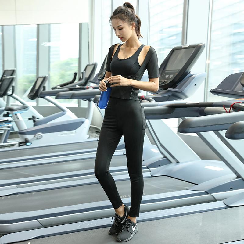 暴汗裤女瘦腿燃脂暴汗服大码运动健身跑步紧身发汗长裤高腰爆汉裤