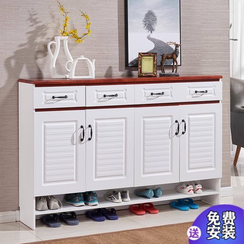 门口鞋柜家用现代简约客厅隔断柜柜子大容量玄关储物v家用阳台简易