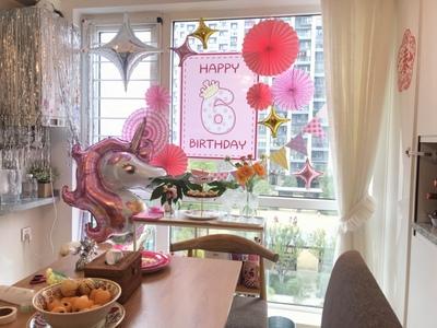 一岁周岁生日布置海报拉旗10岁12岁百天男孩女孩生日两岁三岁生日