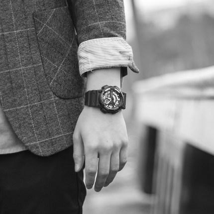 卡西欧CASIO手表时尚指针双显防水防震运动石英男表AEQ-110W-1A