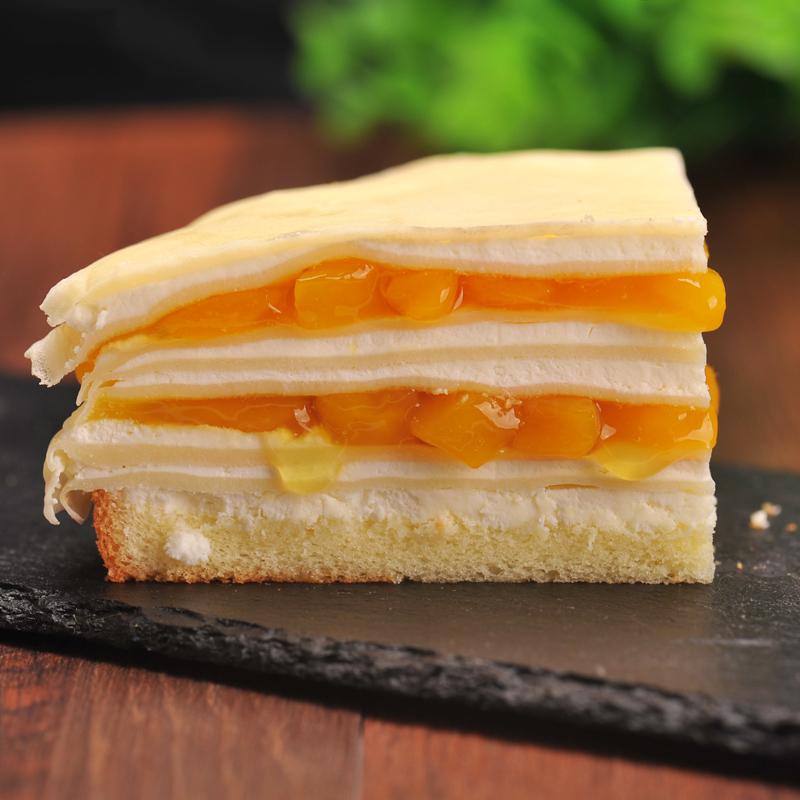 贝芙丽榴莲千层蛋糕芒果千层新鲜水果制作网红零食生日蛋糕