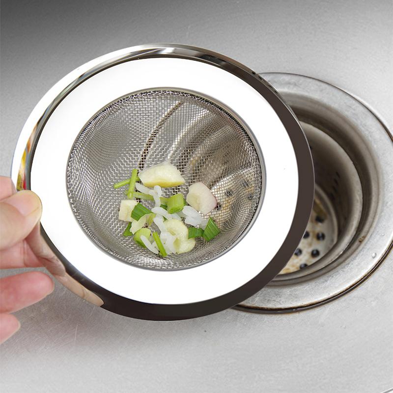 下水道厨房水槽垃圾过滤网洗菜盆水池不锈钢提笼地漏头发防堵神器