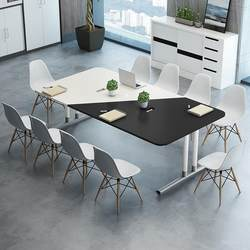 Conference table long table simple modern strip office training table negotiation reception table rectangular table and chair combination