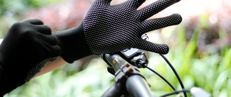 夏季薄款手套防晒男女短款骑行骑车防滑户外登山运动透气开车触控屏幕详细照片