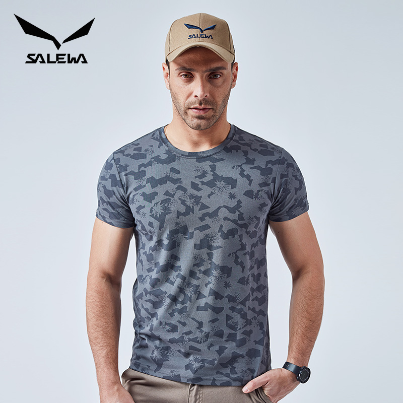 商场同款,杜邦Sorona黑科技:Salewa沙乐华 男女 透气速干运动T恤