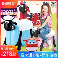 Положительный версия авторизация Овцы Шон верховая езда чехол для тележки многофункциональный детские детские Стойка может сидеть и ездить