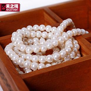 韩版人造珍珠项链长款毛衣链