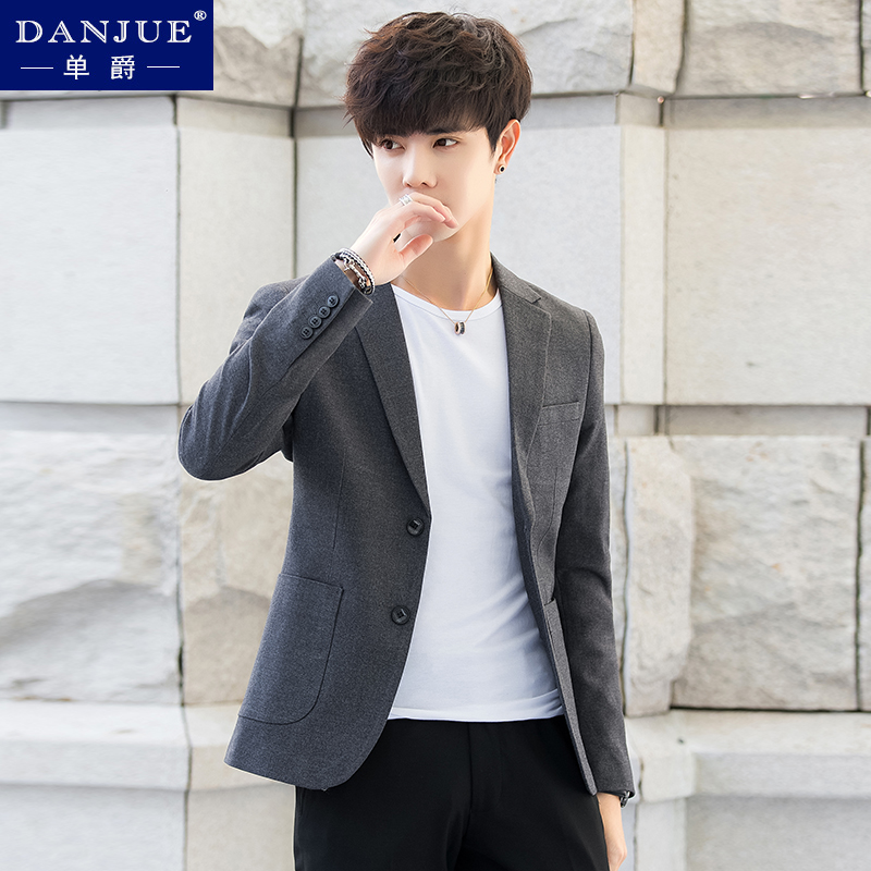 春夏季v潮流潮流男士小西服套装韩版上衣修身薄款外套新款帅气西装