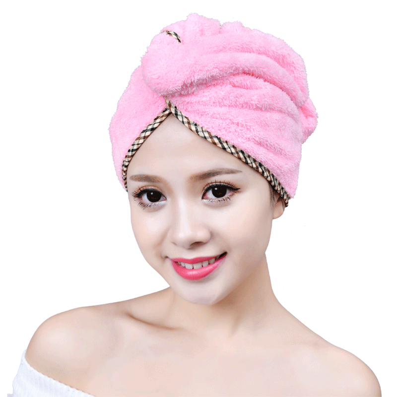 Dry hair towel bath hat dry hair cap woman cute absorbwater wipe hair quick  dry towel bag headscarf thickened new long hair