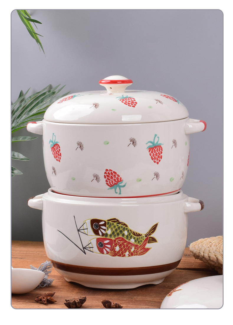 Ceramic household with cover as the kitchen high - capacity chilli oil jar jar of salt sugar jar of high - temperature flavor pot