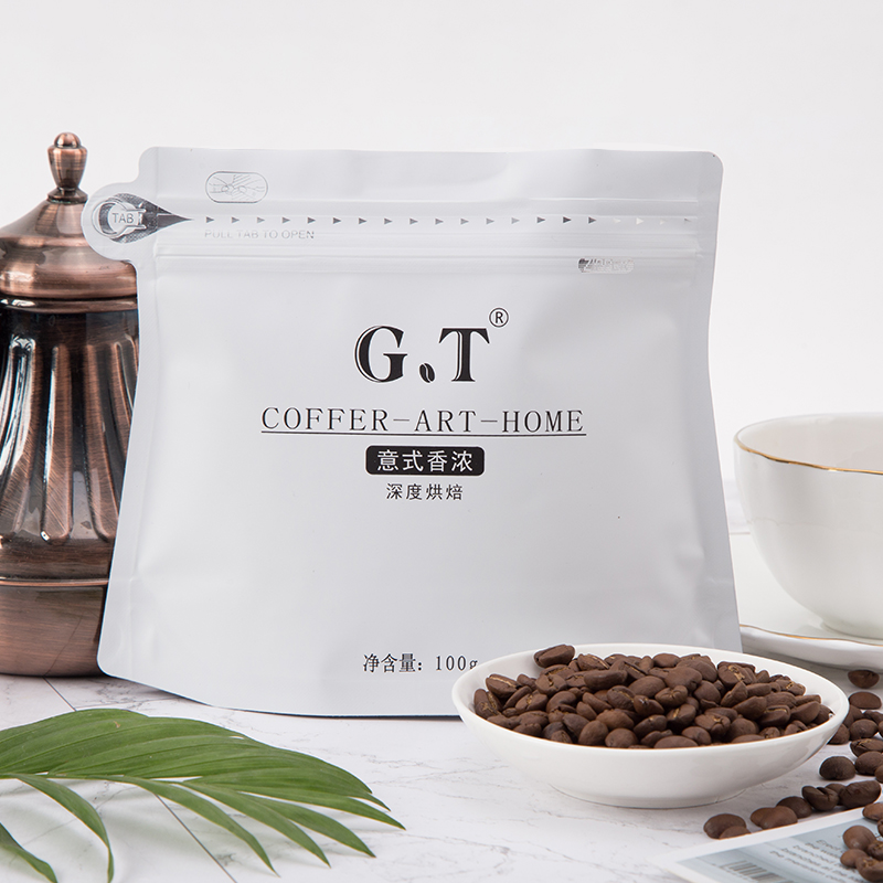 GT新品意式香浓意大利进口咖啡豆深度烘焙无糖香醇新鲜烘焙品鉴装_领取10元天猫超市优惠券
