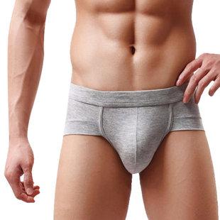 3条装u凸囊袋内裤三角裤莫代尔中低腰