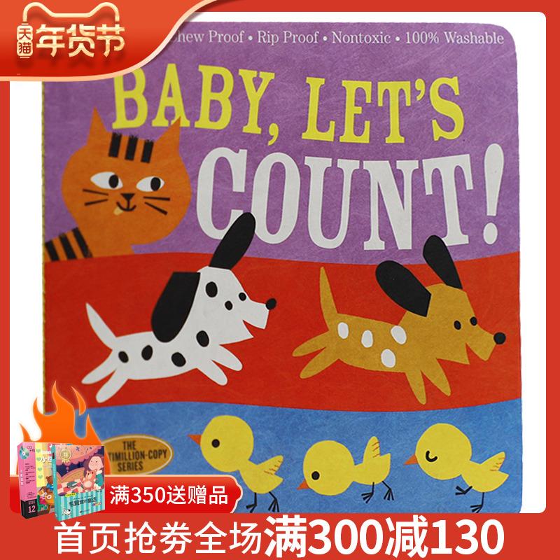 英文原版 Baby, Lets Count 宝宝学数数 咬咬书 可水洗撕不破咬不坏 宝宝启蒙认知 美国 Indestructibles