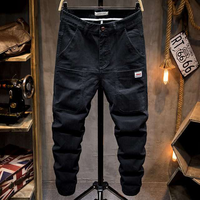 2020 wave of brand new men's trousers pants spring models male Korean fashion wild overalls loose straight casual and feet