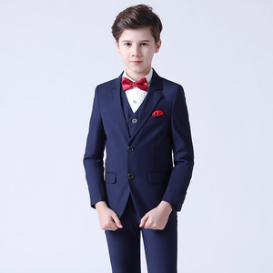 Boy's jazz dance sequin coats chorus host singer performance jacket blazers Children suit 3-piece set handsome British little suit boy