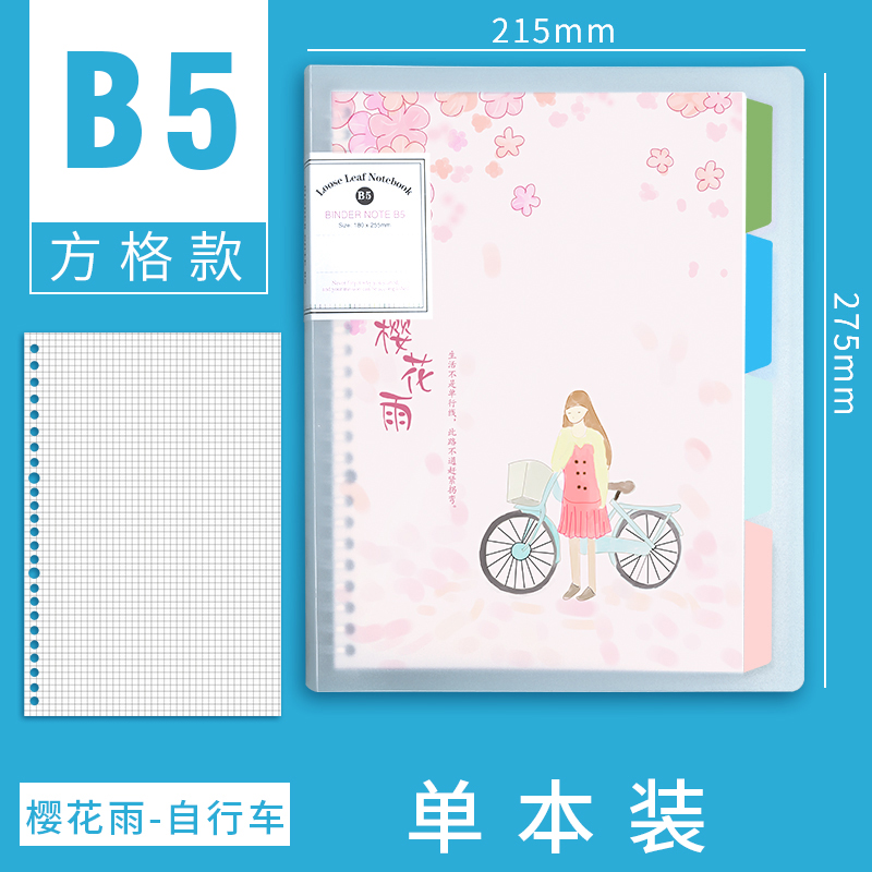 B5 SQUARE [SAKURA RAIN - BICYCLE]
