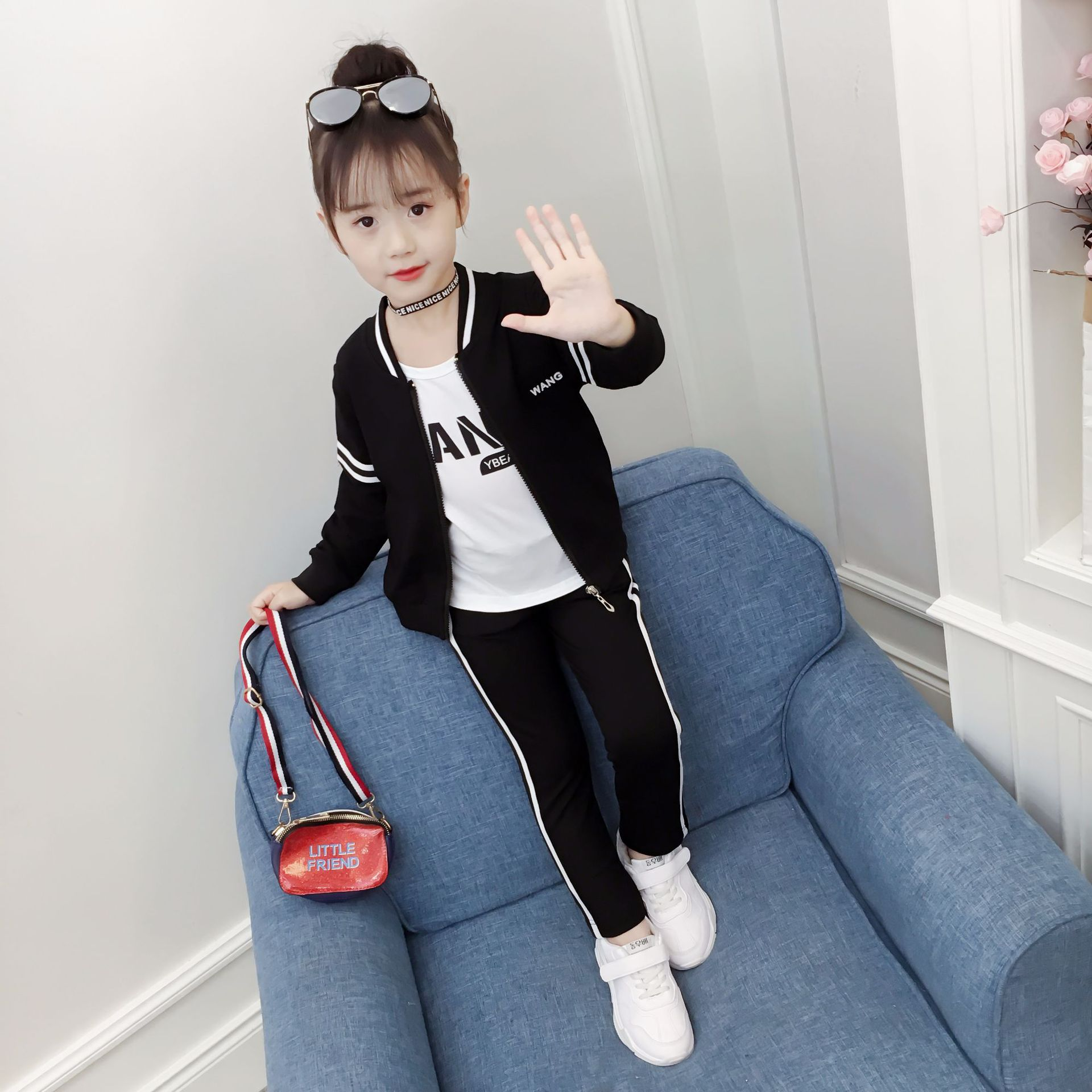 b3a19fa3d27 ... new girls spring and autumn models leisure sports 10 Korean version of.  Zoom · lightbox moreview · lightbox moreview ...
