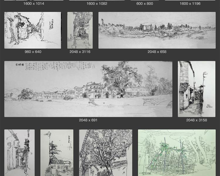 朱浩明钢笔画风景速写电子版