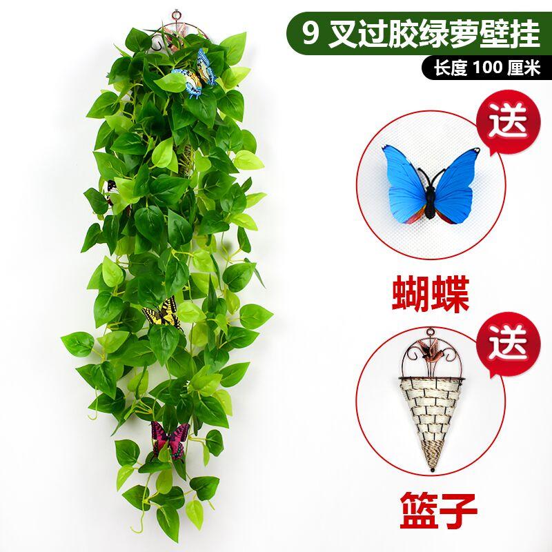 Cây mô phỏng cây mây hoa giả treo giỏ cây xanh thì là lá nho treo tường phòng khách trang trí nội thất cây xanh lá xanh - Hoa nhân tạo / Cây / Trái cây