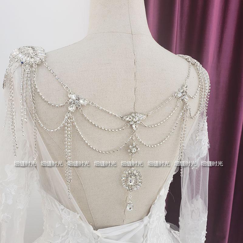 肩链婚纱礼服水钻造型披肩新娘流苏外景写真外搭披肩配饰搭配肩钻