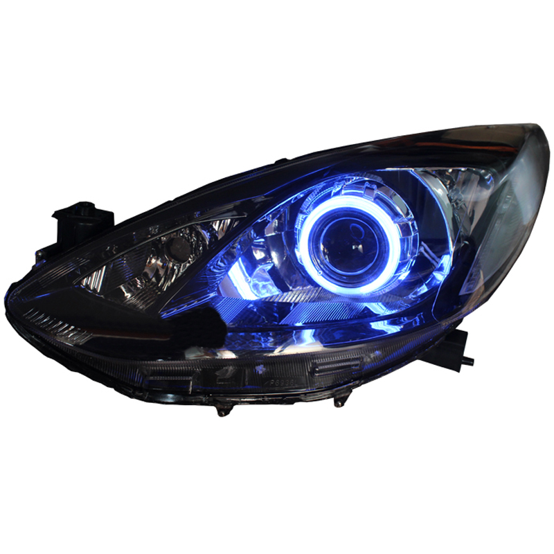 Hid Xenon Headlight Assembly White Halo Blue Demon Eye For