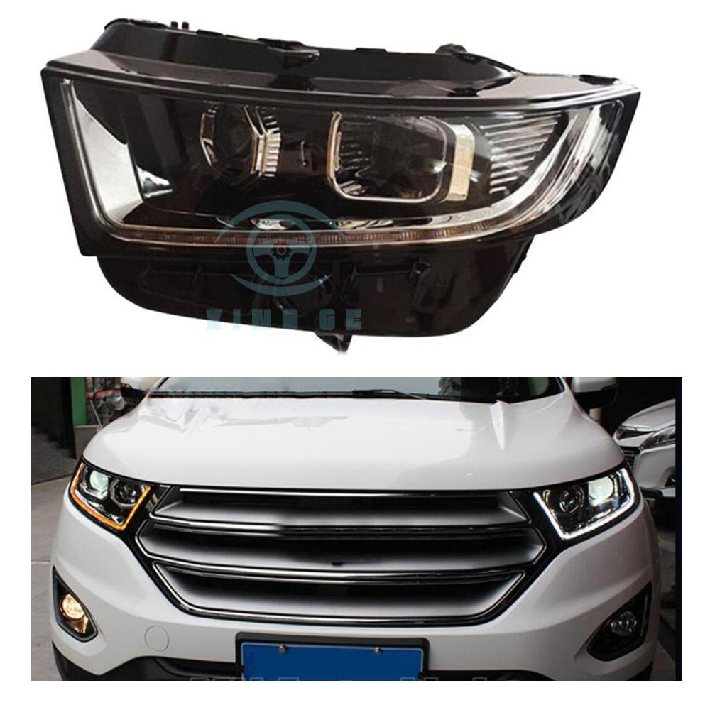 Hid Headlights For Ford Edge 2017 2016 With Led Drl And Bi Xenon Projector Lens