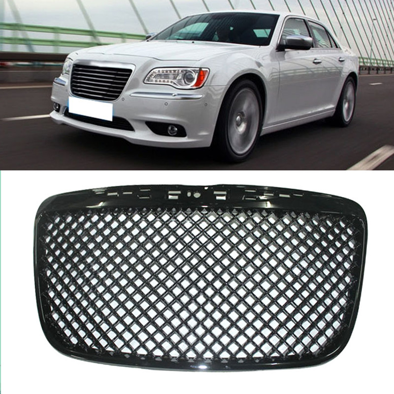 1PC ABS Black Front Grille Hood Grill Fit For Chrysler
