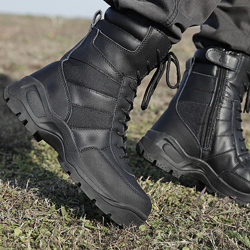 正品511高帮军靴男特种兵07作战靴战术靴真皮户外夏季款登山靴子
